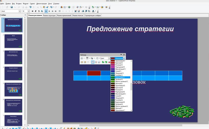 OpenOffice Interpress  обзор