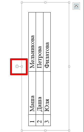 Меняем ориентацию таблицы в MS Word с горизонтальной на вертикальную