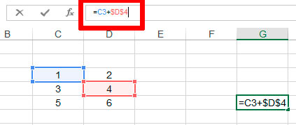 Значок «доллара» позволяет зафиксировать ячейку в Excel