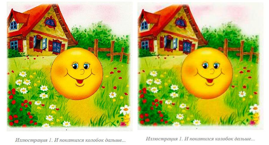 Качество изображений при сохранении PDF с различными настройками: слева стандартный, справа - минимальный
