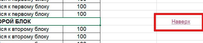 Гиперссылка вставлена в excel-таблицу