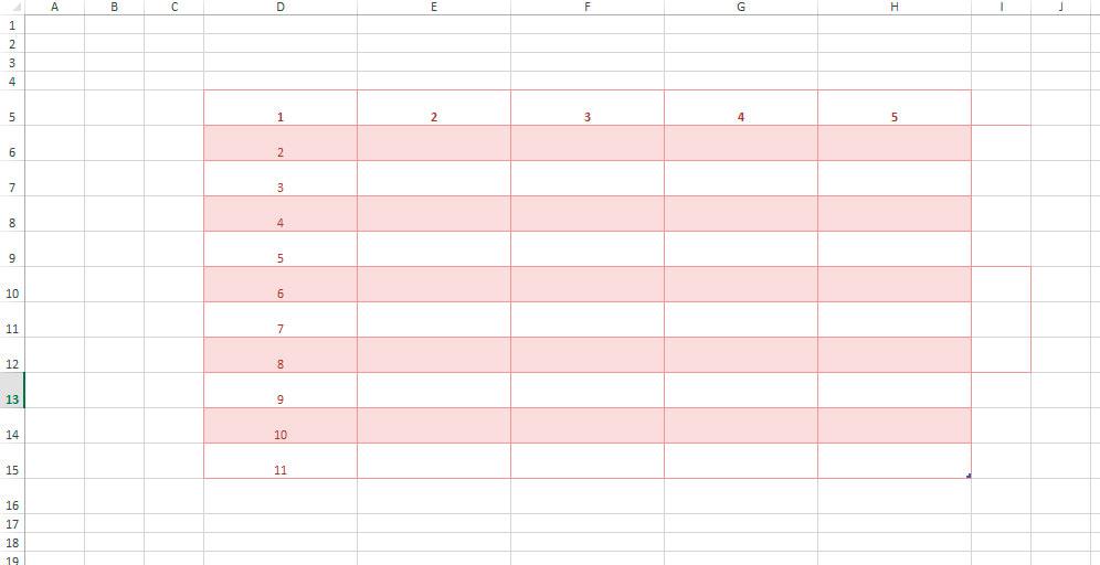 как отключить линовочную сетку MS Excel