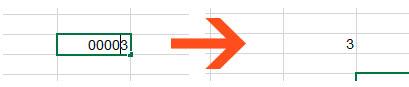 ввод числа с нуkями в Excel