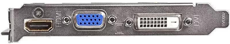Три популярных типа разъемов на видео-карте (слева на право): HDMI, VGA, DVI